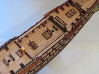 Палубы модели корабля Трёх Иерархов