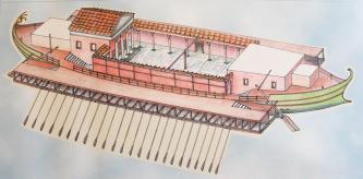 Корпус модели корабля с портами