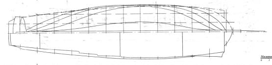 Проекция палуба фрегата Пётр и Павел