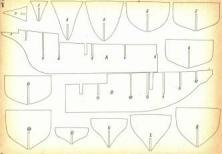 Элементы набора каркаса модели корабля