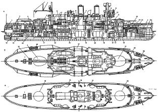 Чертёж броненосца Адмирал Апраксин, 16
