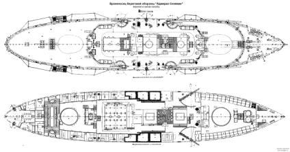 Чертёж броненосца Адмирал Сенявин 4