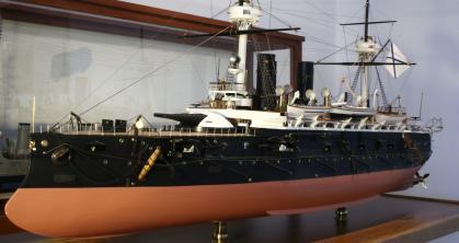 Модель броненосца Император Александр II