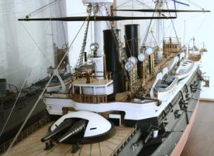 Модель броненосца Император Александр 2 в Таллинском Морском музе