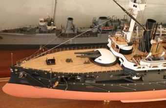 Модель броненосца Император Александр 2, Морской музей Таллина