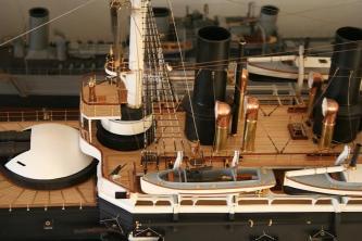 Модель броненосца Император Александр 2,  Морской музей в Таллине