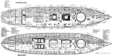Чертёж броненосца Император Александр 2, 5
