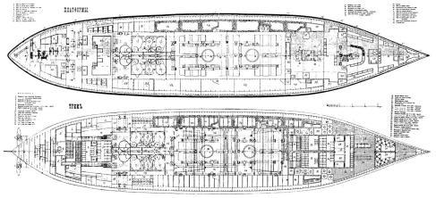 Чертёж броненосца Император Александр 2, 6