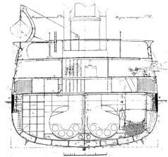 Чертёж броненосца Император Александр 2, 8