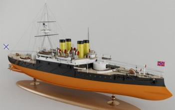 Модель броненосца Наварин