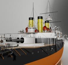 3d Модель броненосца Наварин 3