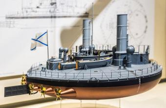Модель броненосца Новгород, Морской музей, Гамбург
