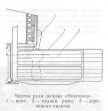 схема броненосца Новгород, руль