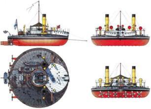 схема плавучей батареи Новгород