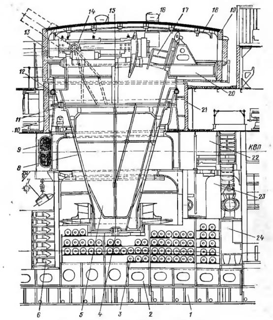Чертёж модели броненосца Потёмкин. Башня.