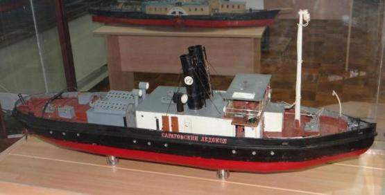 Колекционная модель Саратовского ледокола. 2