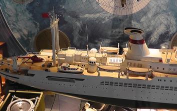 модель научного судна  Академик Курчатов ручной работы