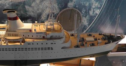 Авторская модель судна  Академик Курчатов