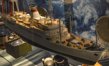 модель научно-исследовательского судна  Академик Курчатов