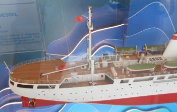 модель судна Михаил Ломоносов ручной работы