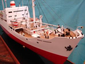Стендовая модель судна Михаил Ломоносов 3