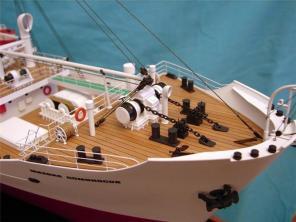модель судна Михаил Ломоносов ручной работы 7