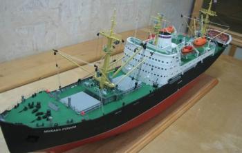модель судна Михаил Сомов в музее Архангельска