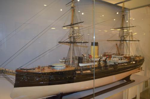 модель фрегата Адмирал Нахимов ручной работы