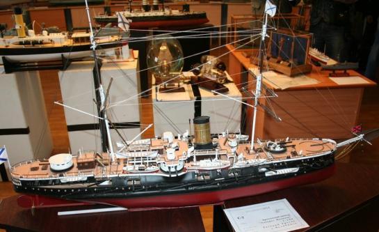 Авторская модель броненосного крейсера Адмирал Нахимов