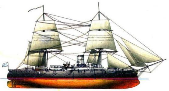 Начальный вид крейсера Адмирал Нахимов