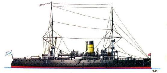 крейсера  Адмирал Нахимов в начале Русско-японской войны