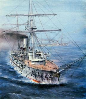 Рисунок крейсера Адмирал Нахимов