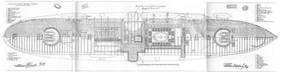 Заводские чертежи кресера Адмирал Нахимов палуба