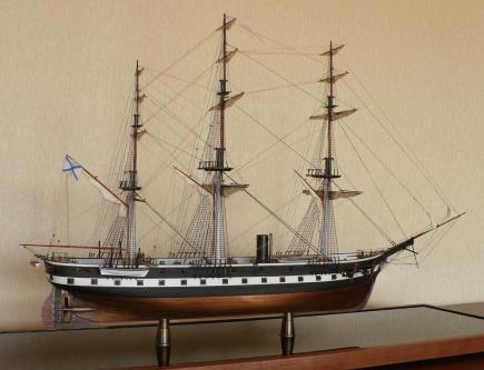 модель парового фрегата Александр Невский ручной работы