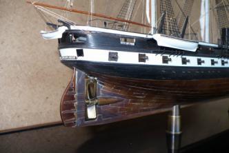 модель корабля Александр Невский ручной работы