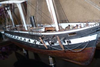 Авторская модель корабля Александр Невский, нос