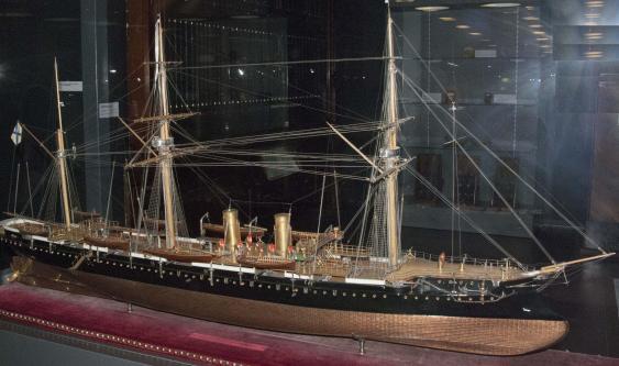 Авторская модель корабля Адмирал Корнилов. общий вид