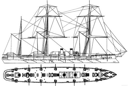 крейсер Адмирал Корнилов. чертеж