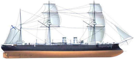 схема модели крейсера Адмирал Корнилов
