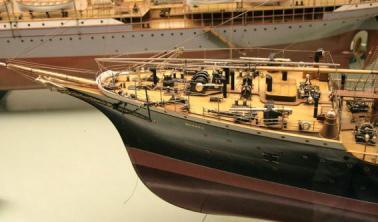 модель парохода Москва ручной работы