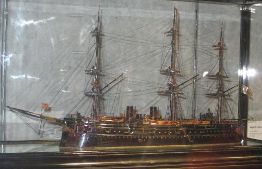 Авторская модель фрегата Дмитрий Донской. общий вид