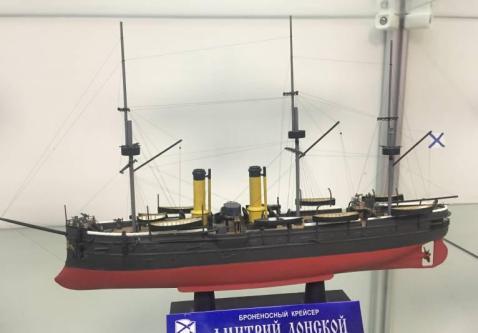 Авторская модель крейсера Дмитрий Донской