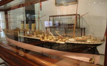 модель парохода Херсон ручной работы