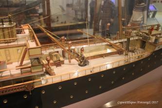 Модель парохода Херсон ручной работы фрагмент