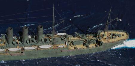 модель крейсера Лена ручной работы 1:700