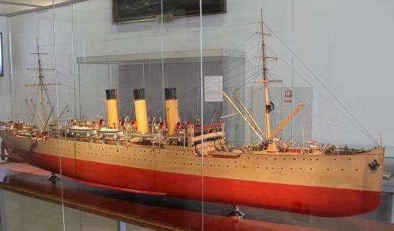 Авторская модель учебного корабля Океан