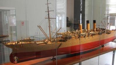 модель учебного корабля Океан ручной работы