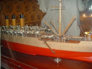 модель учебного корабля Океан ручной работы 7