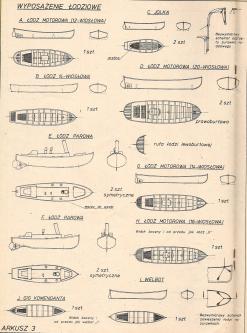 Чертёж учебного корабля Океан шлюпки