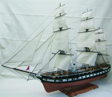 Авторская модель парового фрегата Олег